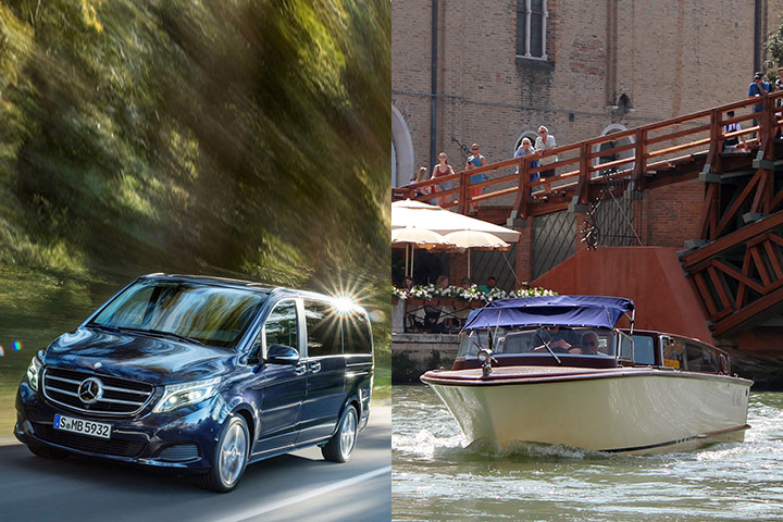 Mercedes Classe V + Premium Water Taxi