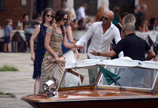 Keira Knightley Venice Water Taxi