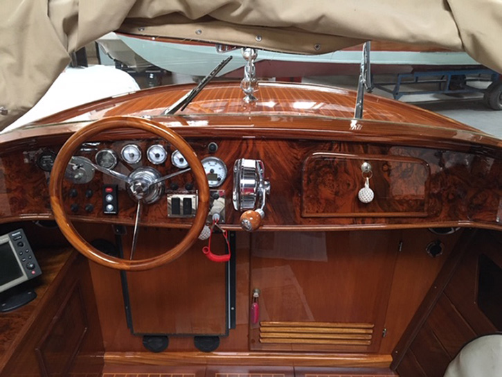 luxury water taxi interior